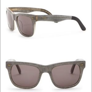 Unisex Toms James 55mm Square Sunglasses : Grey